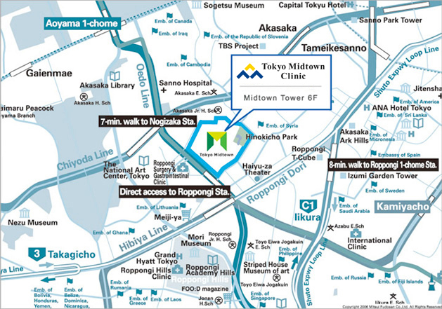 Location - About Clinic - Tokyo Midtown Clinic|Tokyo Midtown ...